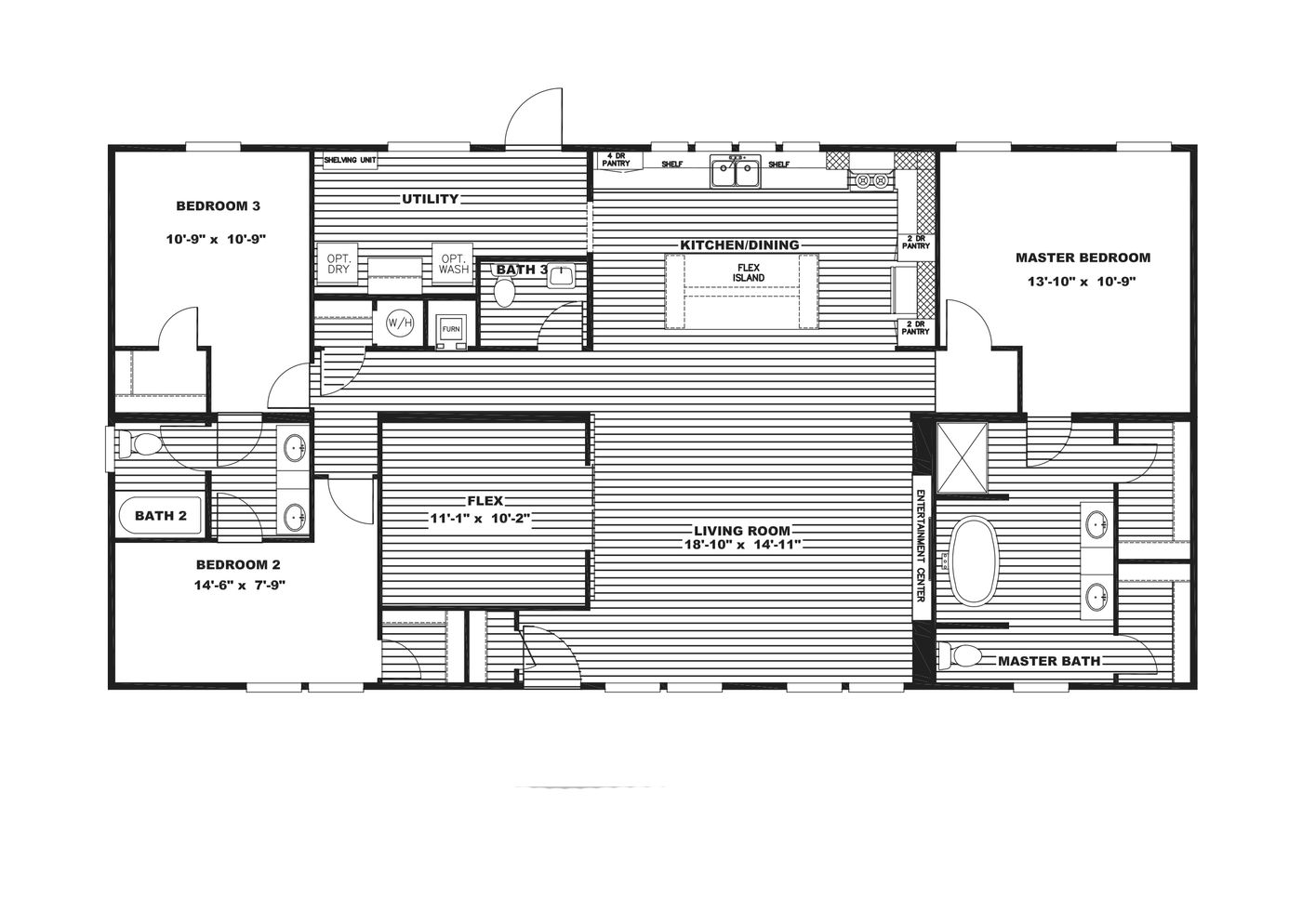 Farmhouse Flex, Lot 87 Floor Plan