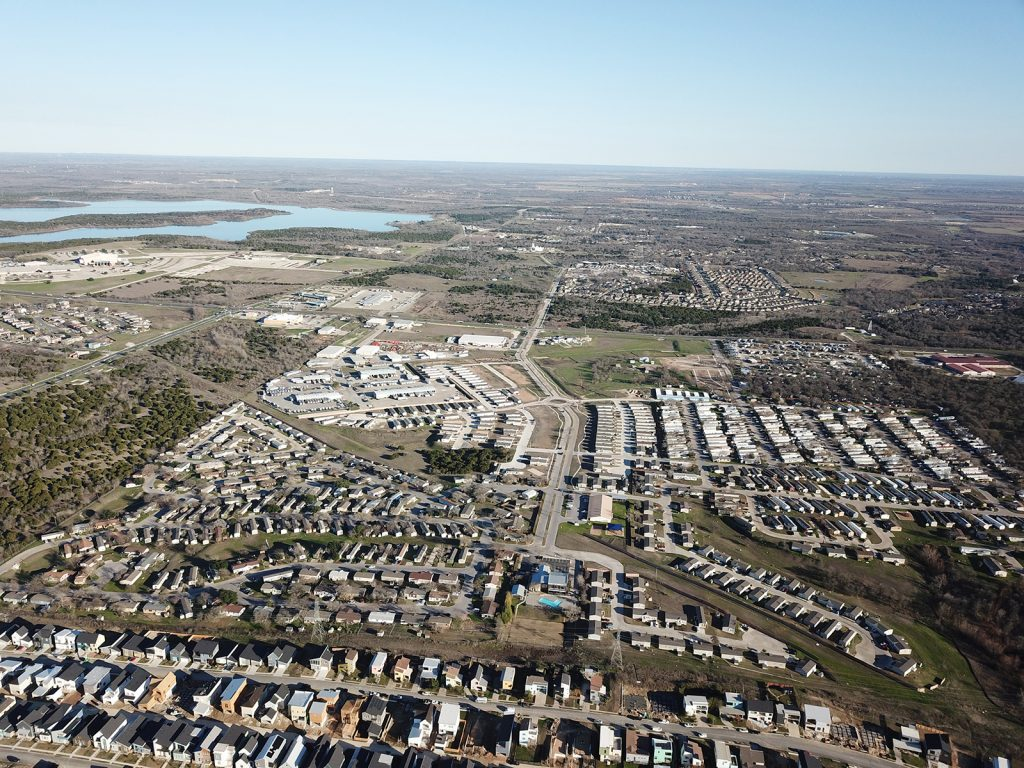 Aerial View of Loma Vista Mobile Home Community