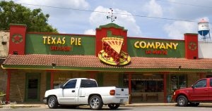 front of texas pie company in kyle
