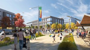 mixed use development rendering
